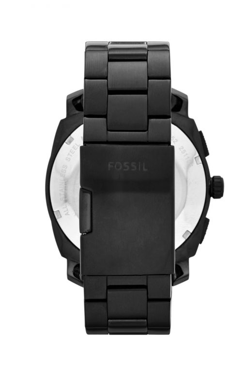 svart klocka fossil