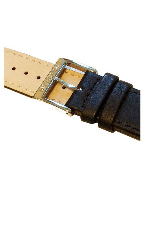 20 mm svart läderarmband