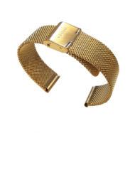 klockarmband guld mesh