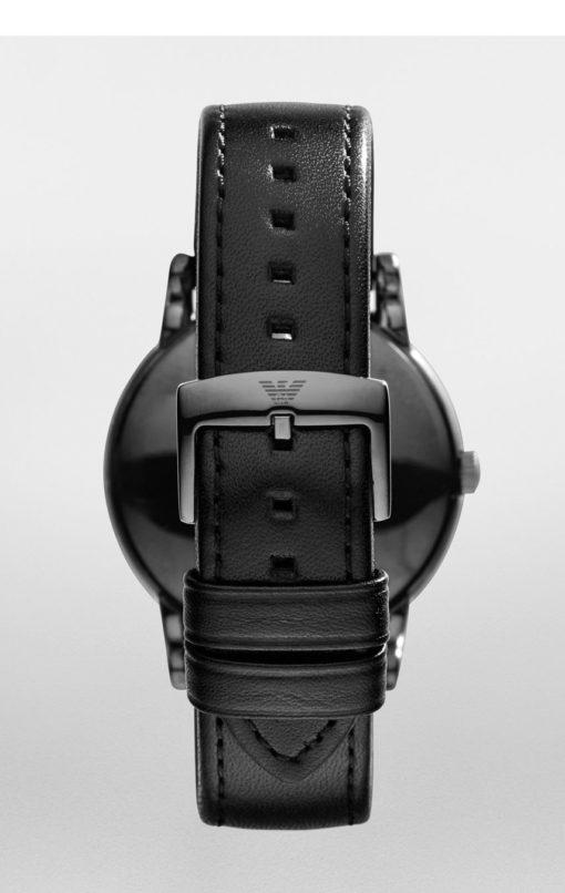 svart klockarmband armani