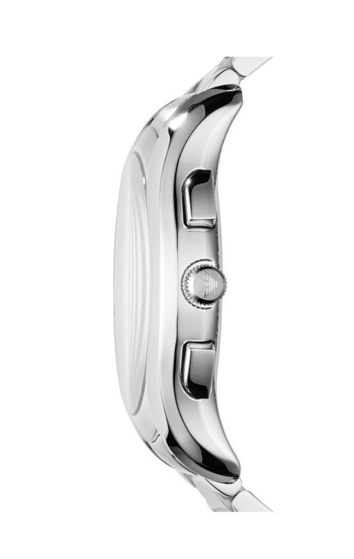 Silverfärgad herrkronograf